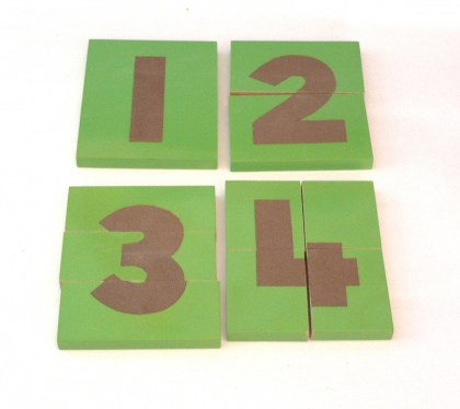 MT015 Sandpaer Number Board Jigsaw